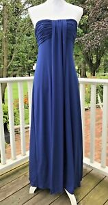 Alfred-Angelo-Blue-4-6-XS-Strapless-Dress-Evening-Formal-Bridesmaid-Prom