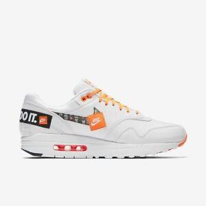 Details about Nike Air Max 1 Prm JUST DO IT JDI OFF WHITE Black Virgil Abloh Women 11 Men 9.5