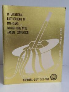 Program I. B.M International Brotherhood Of Magicians 1978 Convention