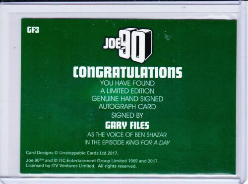 Joe 90 Autograph Selection Gerry Anderson Collection Trading Cards