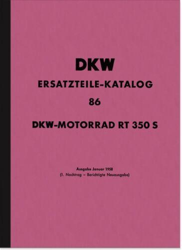 DKW RT 350 S RICAMBIO elenco Catalogo parti di ricambio rt350s spare parts list catalogue