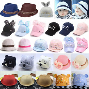 339da0260b3 Baby Boys Girls Baseball Beret Straw Hat Kids Cap Children Hat ...