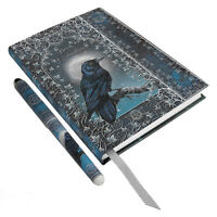 Raven Spell Book W/ Pen Embossed Bos Journal Wiccan Pagan Metaphysical