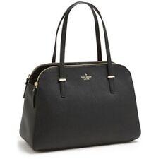 Kate Spade Cedar Street Elissa Black Leather Satchel Tote Shoulder Handbag Purse