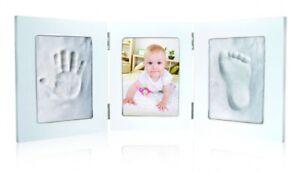 Cornice Portafoto Kit BabyImpronta con 2 Impronte Idea Regalo Nascita Battesimo