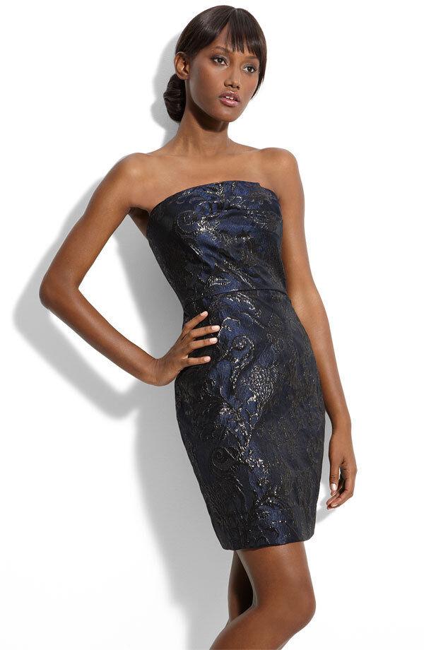 Alexia Admor Strapless Jacquard Sheath Dress(Größe  XS)