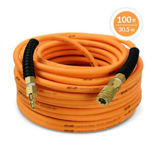 DuraDrive-1-4-in-x-100-ft-Premium-Hybrid-Polymer-Air-Hose-with-Swivel-Fitting