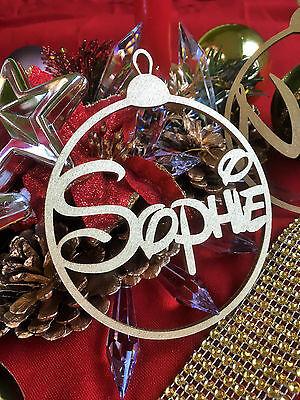 Audace Albero Di Natale Personalizzata Bauble Decoraction O Etichetta Da Regalo-font Disney-oro-mostra Il Titolo Originale