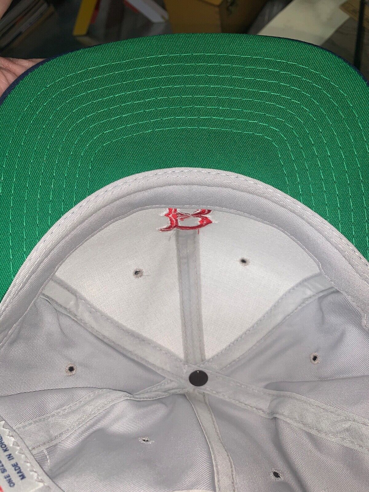 VINTAGE 80s/90s Boston Red Sox MLB Grosscap Brand… - image 11