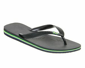 Havianas Brasil Flag Original Flip Flops Thong Sandals Gray Size 7 - 8 NWT