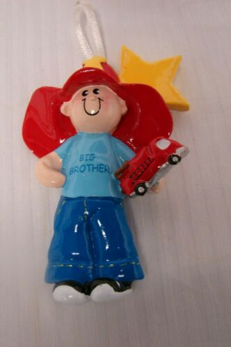 Fireman Big Brother Personalized  Christmas Ornament