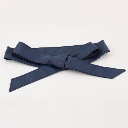 Women Girls Soft Dress Belt Wide Corset Cummerbunds Strap Female Burgundy Belt