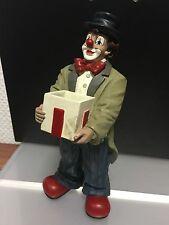 """Gilde Clown """" mit Kiste """" 21 cm. Top Zustand !!"""