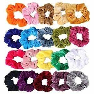2x-Lady-Soft-Velvet-Scrunchies-Hair-Ring-Elastic-Stretch-Tie-Ponytail-Holder-RO
