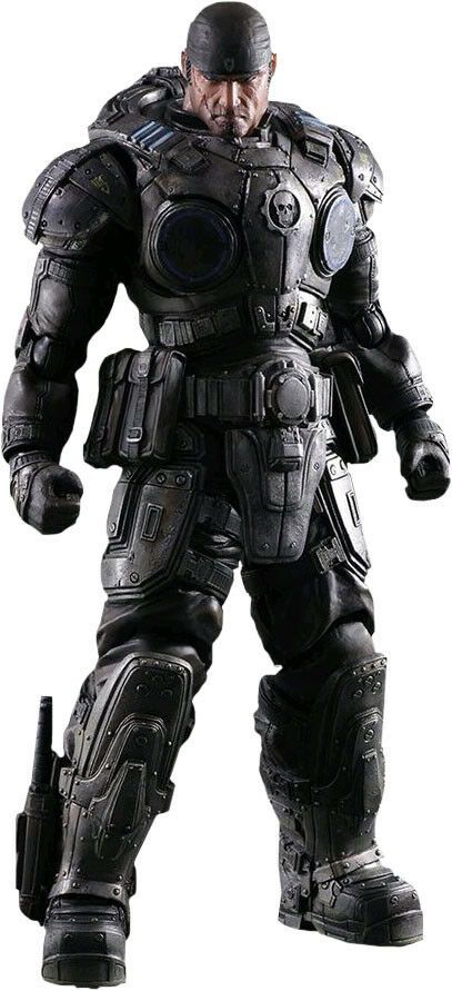 "GEARS OF WAR - Marcus Fenix 11"" Play Arts Kai Action Figure (Square Enix)  NEW"