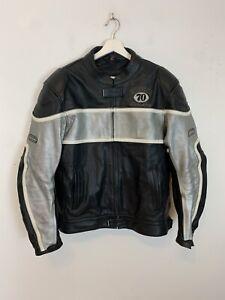 Hein Gericke 70 Motors Inc. Leather Motorcycle Jacket Motorbike Biker UK Size 38