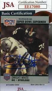 Dwight White 1990 Pro Set Jsa Coa Hand Signed Authentic Autograph