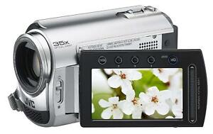 JVC-Everio-GZ-MG330RU-HDD-Digital-Video-Camera-Camcorder-30-GB-Silver-W-Remote