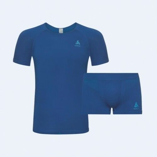 Odlo Seamless Seamless Seamless Set Men energy Blau-Blau jewel Herren T-Shirt Funktionshemd blau 366154