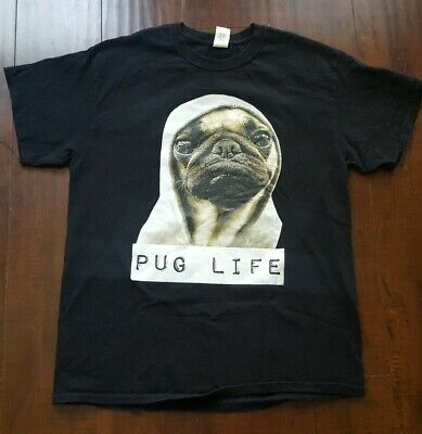Pug life Dog Funny hipster Top Tank Puppy thug cute T-shirt casual gift tee