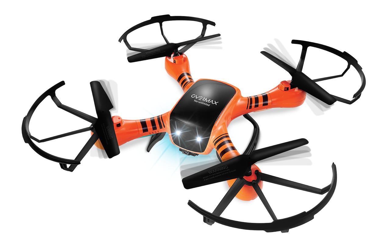 RC DRONE QUADRICOTTERO 2.4 GHZ XBEE 3.5 rossoAZIONE 360° telecamera  HD  punti vendita