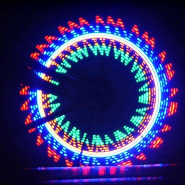 Practical Bike Lights Wheel Tire Valve Bike Accessories 16 LED Bycicle Light❤YY