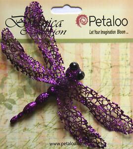 Glittered-DRAGONFLY-Single-Pack-PURPLE-70x120mm-Wingspan-Botanica-Petaloo