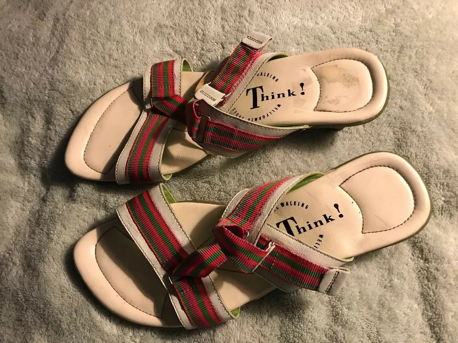 Think Think Think  donna's Sandals Small Heel rosso bianca Dimensione 41 SC8 1c533e