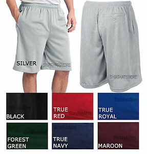 Mens-Tough-Mesh-Shorts-Gym-Athletic-Work-Out-Exercise-with-3-POCKETS-Sizes-S-4XL