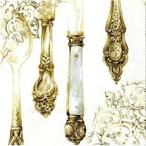Cutlery-White-Silver-Gold-serviette-napkins-new-20