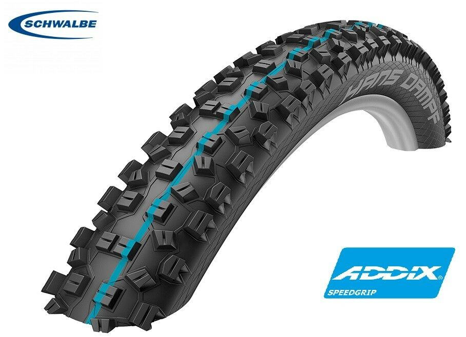 Schwalbe Hans Dampf  Folding Addix SPEEDGRIP (blueee) Snakeskin Tubeless Tyre Bike  discounts and more