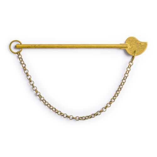 """CBH 2 BIRD TAIL Brass Hardware Keys w// Chain 4.75/"""""""