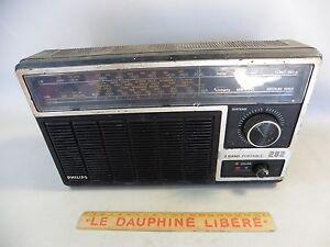 Ancien Poste Radio Transistor Philips 282/manque Cache Piles/en L 'etat E2i5da06-08013339-992678616