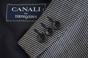 Canali-Beige-Blue-Woven-Textured-Tweedy-100-Wool-Sport-Coat-Jacket-Sz-42R