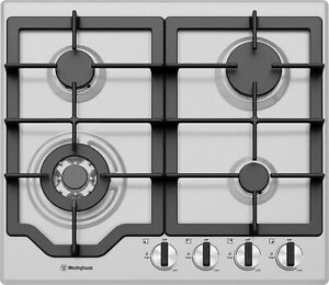 Westinghouse 60cm Stainless Steel Gas Cooktop WHG644SC