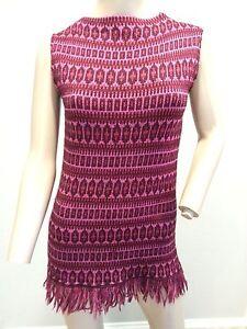 VTG-60-039-s-Jack-Winter-Mod-Micro-Mini-Tunic-Wool-Fringe-Sweater-Shift-Dress-S-38