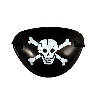 Pirate Eye Patch Mask Eyeshade Plain Fancy Costume Party for Adult Black