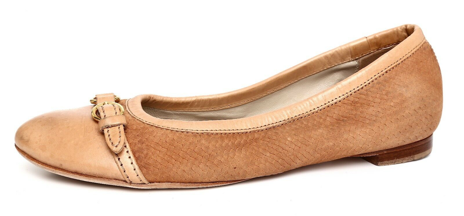 Attilio Giusti Leombruni Women's Slip On Tan Leather Flats Sz 39 EUR 3104