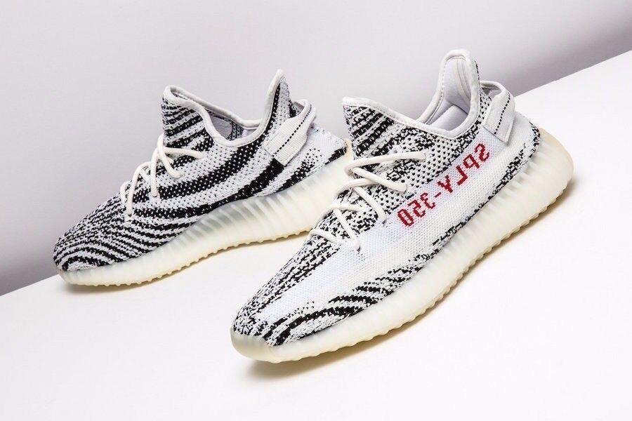Adidas yeezy auftrieb 350 350 350 v2 zebra größe 8,5 aufstocken cp9654 in hand startklar 6191a8