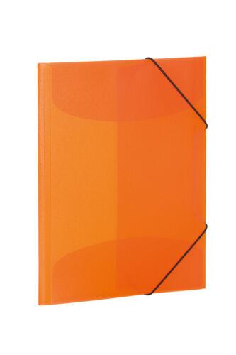 PP HERMA Eckspannermappe orange-transluzent DIN A3