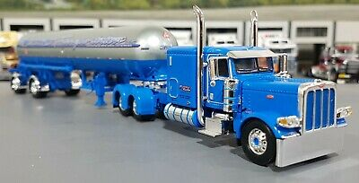 First Gear Dcp 1:64 Accord Transporte Azul Peterbilt 389 Miss Lp Tanque Novo Na Caixa