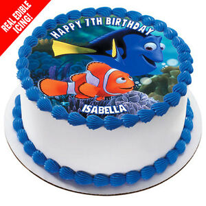 Finding Dory Nemo Edible Cake Image Icing Birthday Party