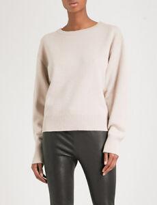 New-450-Rag-amp-Bone-Sutton-Cashmere-Sweater-in-Mink-Light-Beige-sz-S