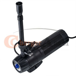 13w uv sterilizer submersible pond filter pump fountain for Small pond pump filter kit