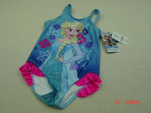 NWT Toddler Girls Disney Elsa Frozen One piece Bathing Swim Suit Summer Pool Fun