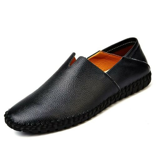 Casual Driving Mens Soft Leather Boat Shoes Loafers Comfortable Slip On Flats