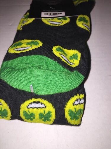 Patrick/'s Day Ladies Knee High Socks Emoji Face Shamrocks St