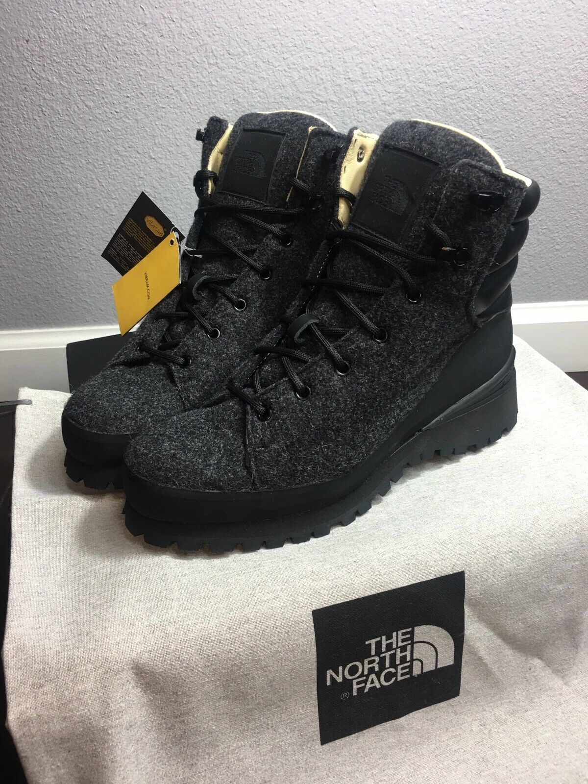 The North Face Women Cryos Hiker Wool Boots W Vibrant Rubber Sole Size 6.5  450