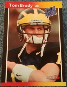 Details About Tom Brady Rated Rookie Card Rc 1989 Donruss Style Aceo Custom Rp Patriots Card