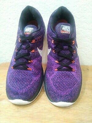 venta de liquidación ventas al por mayor nuevo autentico Nike Flyknit Lunar 3 Running Shoe Purple Black Concord SZ 8.5 | eBay